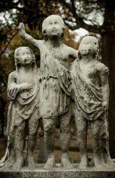 Creepy ass kid statue