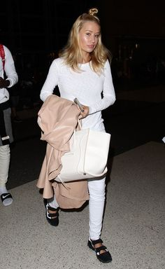 Iggy Azalea has airport swagger aced with her Céline bag and Nike Air Rifts