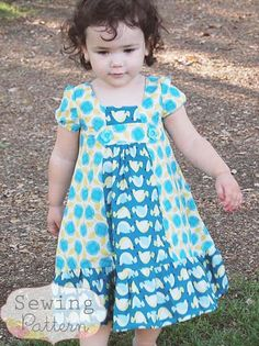 INSTANT DOWNLOAD- Delta Dress (Sizes 12/18 months to 10) PDF Sewing Pattern and Tutorial
