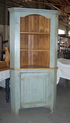 colonial revival corner cupboard | Corner Cabinet. Love this!!