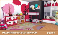 Ikea Inspired Toddler Bedroom. Sims 4 Custom Content.