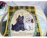 Lamont Cotton Linen Tea Towel Scottish and West Highland Terriers Dogs