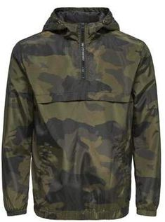 Only and Sons - Storm Camouflage Half-Zip Jacket Military Fashion, Mens Fashion, Camisa Polo, Sport Casual, Sport Wear, Sweat Shirt, Nye, Vintage Men, Camouflage