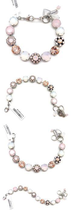 8c05d4d1e Bracelets 110635: Mariana Silver Swarovski Bracelet Rosewater And White  Opal Mosaic 2333 Tiara Day BUY IT NOW ONLY: $129.0. Nicer Jewelry