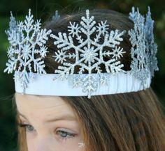 krone basteln schneeflocken-gummi-frozen-eiskoenigin-verkleidung