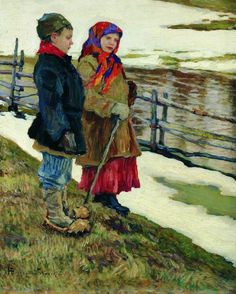 Nikolay Bogdanov-Belsky  Peasant Children 1915