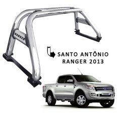 Santo Antonio Duplo Cromado para Nova Ford Ranger 2013 em Diante