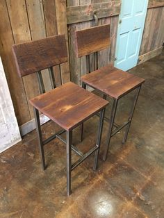 Reclaimed Wood Bar Stools Industrial Stool Reclaimed by wwmake