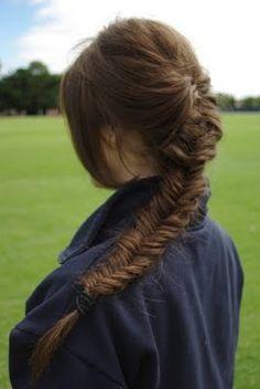thick gorgeous fishtail braid