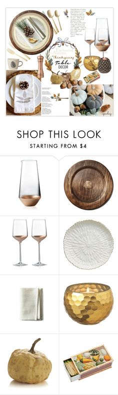 """""""Thanksgiving Table"""" by eyesondesign ❤ liked on Polyvore featuring interior, interiors, interior design, home, home decor, interior decorating, Wedgwood, Mayenne Maison, Empreinte and Bloomingville"""