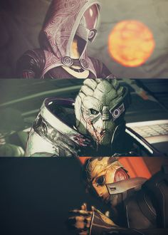Tali, Garrus and Thane. Basically the best characters from ME2.