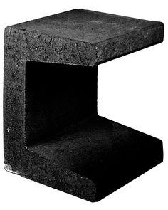 Traptreden en Borders :: Beton :: U-Element 40*50*40 Zwart - Lek Tuinmaterialen