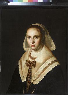 Portret van een onbekende vrouw - Anoniem, Hollands