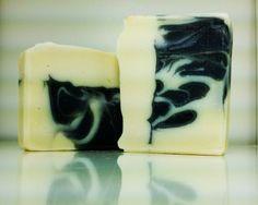 Handmade Black Linen & Amber scented soap.