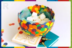 Crea este lindo bowl con #GomaResistolBlanca #Resistol #Goma #Blanca