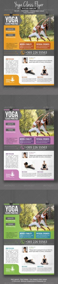 Yoga Class Flyer — Photoshop PSD #psd #marketing • Available here → https://graphicriver.net/item/yoga-class-flyer/8487585?ref=pxcr