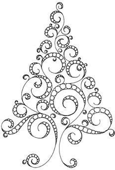 christmas tree -- I know this is a quilling pattern, but this would make beautiful needle lace. Crazy Quilting, Free Motion Quilting, Quilling Patterns, Zentangle Patterns, Embroidery Patterns, Noel Christmas, Christmas Crafts, Christmas Doodles, Christmas Patterns