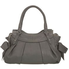 Mint Velvet Leather bow bag ($140) ❤ liked on Polyvore