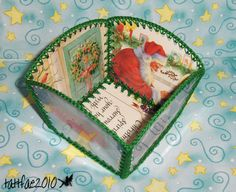 christmas card project box... with link to tutorial