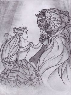 Belle and Beast by earth-angel13.deviantart.com on @deviantART
