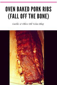 Rib Recipes, Cooking Recipes, Smoker Recipes, Family Recipes, Cooking Tips, Oven Baked Pork Ribs, Slow Cooker Ribs Recipe, Baked Garlic, Oven Dishes