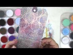 PanPastel + Stencils + Stamps (+ matte medium + versamark + adding color + erasing color + erasing stamping et al) video by Julie Fei-Fan Balzer.