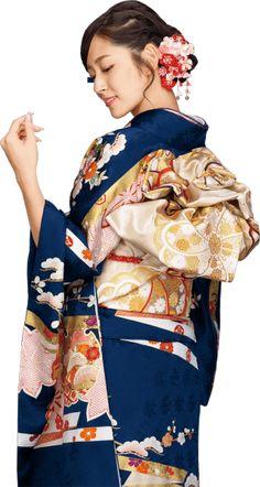 鈴木愛理 Airi Suzuki in kimono Furisode Kimono, Yukata, Traditional Kimono, Traditional Dresses, Traditional Japanese, Japanese Outfits, Japanese Fashion, Oriental Fashion, Asian Fashion