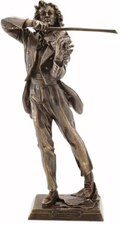Niccolo Paganini Figurine Sculpture Statue-Home Décor-Music Related Gifts-Available for Sale at AllSculptures.com