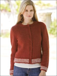 b4f22db313ab44 Knit Clothing - Cardigan  amp  Jacket Knitting Patterns - Autumn Rust  Cardigan Rust Cardigan