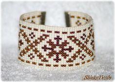 Ethnical native cuff bracelet with Māra cross por Shinkabeads
