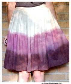 Love Charles Vintage: How To: Dip Dye A Wool Skirt