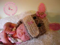 Crochet Baby Hats Crochet Sock Bunny Hat by SweetnessInSmyrna, $32.99 (and my new granddaughter modeling)