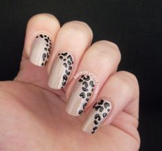 Simple Leopard Nail Art on Canvas Lacquer Flaunt It | Squeaky Nails http://www.squeakynails.com/2014/10/simple-leopard.html #nailart