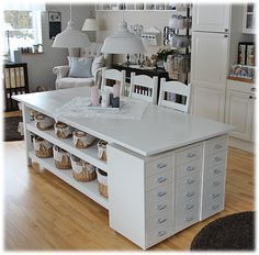IKEA Helmer drawers under the leaf of table - bjl