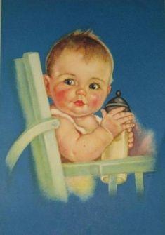 Charlotte Becker - baby and milk (550×783)