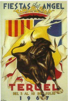 Carteles Fiestas del Ángel Teruel 1967