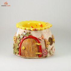 Deko-Objekte - Keramik Duftlampe - ein Designerstück von kreativwerkstatt-fleury…