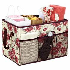 Keep your closet organized and create extra space for your spring wardrobe with this essential storage design from Laura Ashley.   Product: Trunk organizerConstruction Material: PolyesterColor: CranberryDimensions: 12 H x 18 W x 12 D