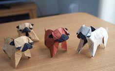 Origami Pugs