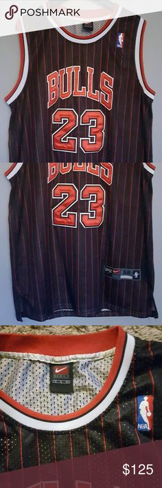 Nike Chicago Bulls Michael Jordan Vintage Jersey Vintage Black and Red  Chicago Bulls Michael Jordan 23 426d373d2