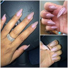 Stiletto nails. Essie Demure Vixen