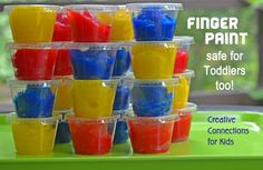 Finger Paint recipe that is edible and safe for toddlers too! ~ Creative Connections for Kids