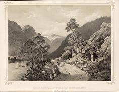 Norge fremstillet i Tegninger - Joachim Frich - Kringlen med Zinclars monument i Guldbrandsdalen.  jpg (5185×4041)