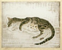 Foujita Tsuguharu, Sleeping Cat