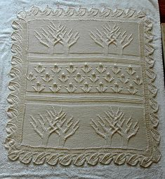 Ravelry: Baby Tree of Life Throw pattern by Lion Brand Yarn