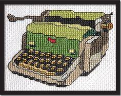 Vintage Typewriter Cross Stitch Pattern Instant Download