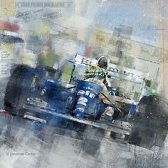 Senna in the FW16 Small 250 edition print. by Artfortyeight