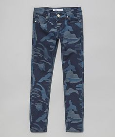 Take a look at this Moonlight My Leopard Skinny Jeans - Girls by Vigoss on #zulily today!