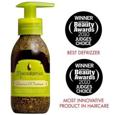 Brittle, dry hair is miraculously replenished with enhanced control and shine thanks to Macadamia Healing Oil Treatment.