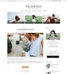 La Primrose - Wordpress blog theme by MaiLoveParis on @creativemarket